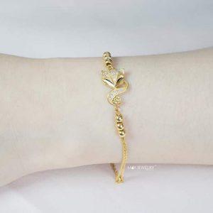 Lắc tay vàng tây hồ ly 1