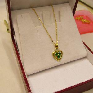 Dây vàng tây mặt trái tim 1