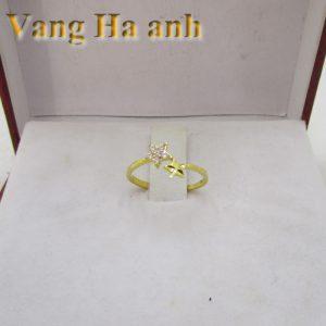 Nhẫn vàng tây nữ ngôi sao