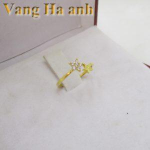 Nhẫn vàng tây nữ ngôi sao 1