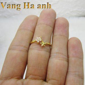 Nhẫn vàng tây nữ ngôi sao 2
