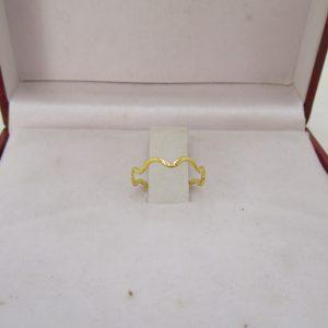 Nhẫn vàng tây nữ lượn sóng