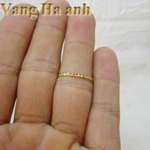 Nhẫn vàng tây nữ ngón út 2