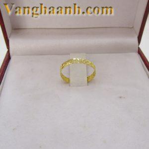 Nhẫn vàng tây kim tiền mỏng