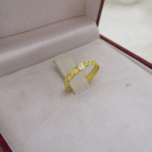 Nhẫn vàng tây kim tiền mỏng 1