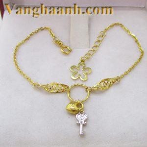 Lắc tay vàng tây chìa khóa